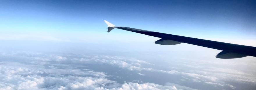 Ala de avión comercial